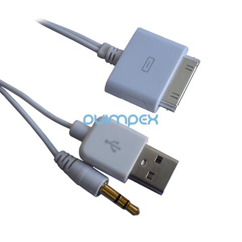 n31 iphone 4s 4 ipod klinke stecker usb kabel ladekabel. Black Bedroom Furniture Sets. Home Design Ideas
