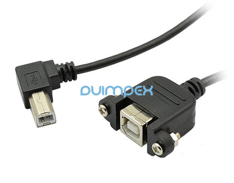 g44 usb verl ngerung kabel druckerkabel b stecker b buchse adapter abgewinkelt ebay. Black Bedroom Furniture Sets. Home Design Ideas