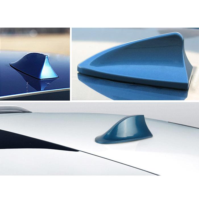 A65 Universal Auto Shark Hai Antenne Dachantenne Haifisch Hochglanz in Weiß